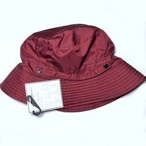Eddie Bauer Fleece Lined Rollup Rain Bucket Hat OS